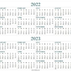 2022-2023 Two Yearly Calendar Template