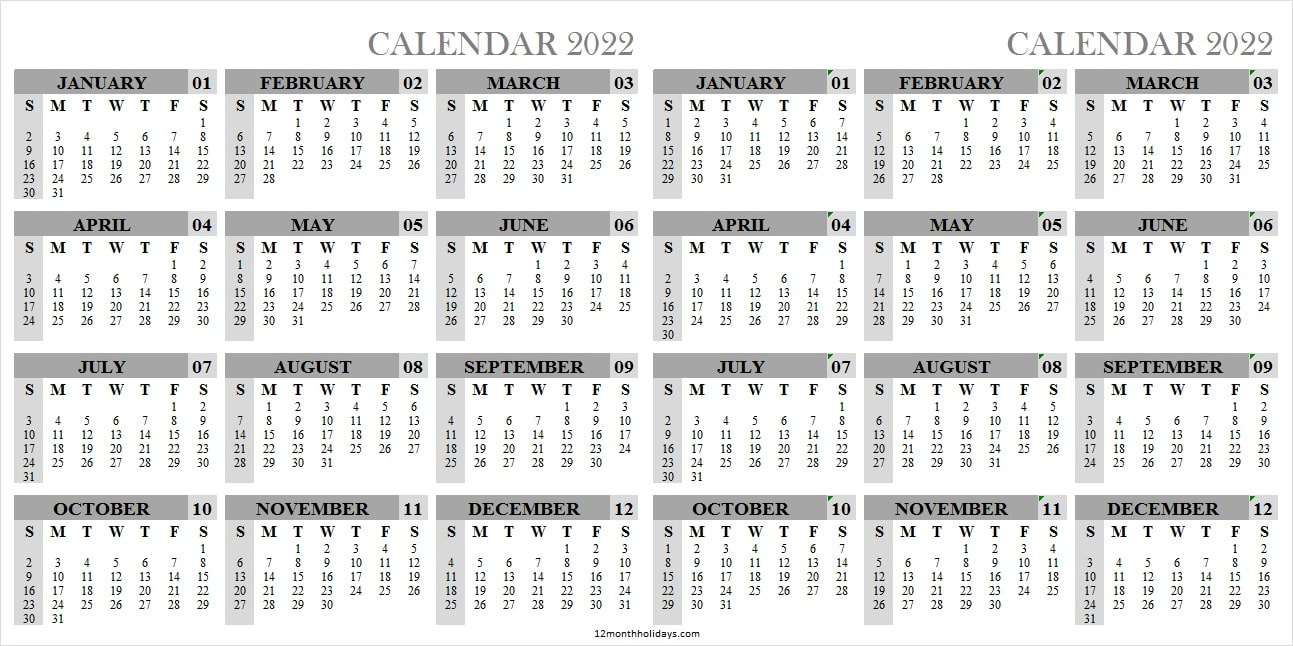 Yearly Calendar 2022 and 2023 Template