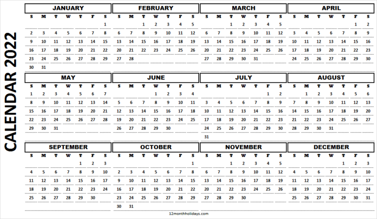 Calendar 2022 PNG HD Template